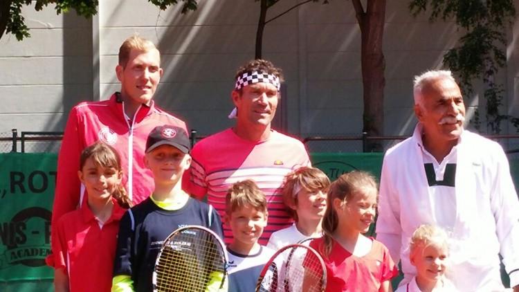 Begegnung mit den Tennis-Stars von damals